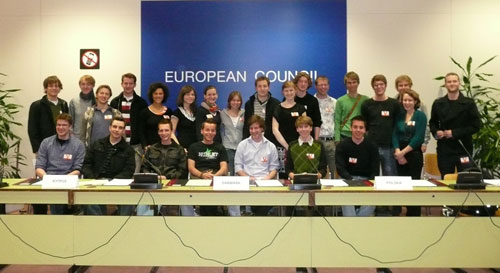Gruppenfoto im EU-Rat